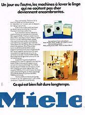 PUBLICITE ADVERTISING 094  1974   MIELE  lave linge machine à laver