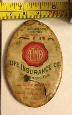 ANTIQUE AETNA LIFE INSURANCE CO. POCKET VANITY SMALL MIRROR