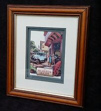 Morris Isis Six Saloon Motor Car 3D Collage Signed Pike Elizabeth Causton Studio