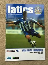 Wigan Athletic v Bournemouth - Carling Cup 2nd Round 2005/06 Programme