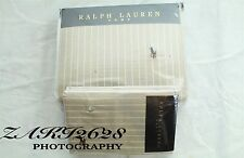 BNWT RALPH LAUREN NATURAL WIDE STRIPE OXFORD KING  DUVET & PILLOWCASE RRP £254