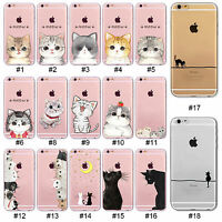 For 4S 5S SE 5C 6 6S Plus Hollow Cute Animal Pattern Ultra Thin TPU Case Cover