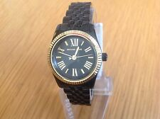 Michael Kors Ladies Petite Lexington Black /Gold Dial Watch MK3299