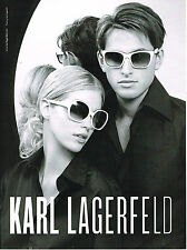 PUBLICITE ADVERTISING 025  2008  KARL LAGERFELD  collection lunettes solaires