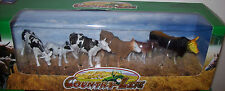New Ray Holstein Cattle/ Cows / Bull dairy cattle farm set. 1/32  animals! New!