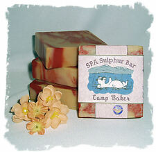 Bamboo Teak_Camp Baker SPA Sulphur Mineral Soap Made in Montana_Handmade Natural