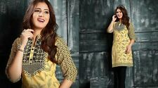Printed Cotton embroidered Kurti casual daily party or office wear