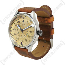 Vintage GERMAN LUFTWAFFE ME-109 PILOT WATCH with Brown Leather Strap