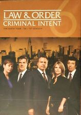 LAW & ORDER CRIMINAL INTENT The COMPLETE SIXTH YEAR All 22 Episodes 5Disc SEALED