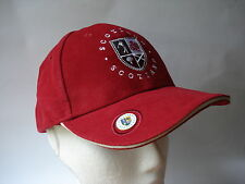 GOLF GIFT - SCOTLAND RED CAP HAT WITH BALL MARKER - BALL OLD COURSE ST ANDREWS