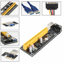 USB 3.0 PCI-E Express 1x To 16x Extender Riser Card Adapter Power Cable 30cm
