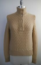 NEW MALO light tan 28 ply chunky cashmere sweater women's Italian size 42