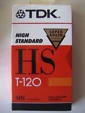 TDK SUPER AVILYN HIGH STANDARD VHS BLANK TAPE FACTORY SEALED