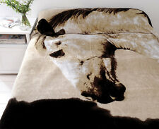Dapple Horse Mink Blanket by Just Home | Quality Plush Mink | Queen