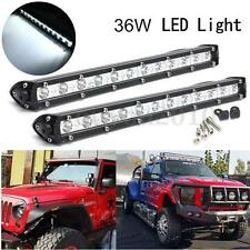 2x Slim 13inch 36W LED Single Row Work Light Bar Spot OFFROAD DRIVING LAMP