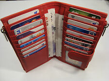 Ladies Leather Purse Wallet Organizer Slim with Many features Red Top Brand