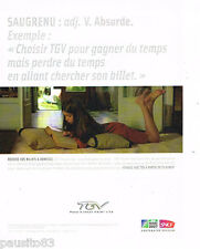 PUBLICITE ADVERTISING 085  2007  SNCF  train TGV  BILLET 0 DOMICILE  irb rugby