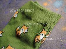 Green Fox Patrón Calcetines, 2 Pares-Talla 6-10 Reino Unido Animales Lindo Kawaii Naturaleza