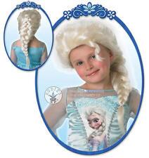 Elsa Reina De Las Nieves Peluca Disfraz Niña Princesa Disney Frozen Para Niños
