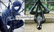 CUSTOM ! FREE WW SHIP Black Suit Spiderman Peter Parker Costume Cosplay Marvel