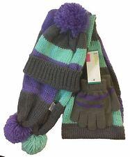 Toddler kids 3 PCS Knit Beanie Hat Scarf Gloves Gift Set
