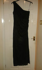 Womens Long Length Maxi Dress - Betsy & Adam - One Shoulder - Black - 12 - BNWT