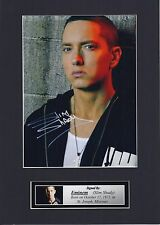 Eminem, Slim Shady Signed Autograph Photo Mounted Display To Fit A4 Frame PP
