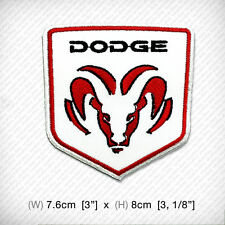 new DODGE Embroidered Patch Iron-On , Sew Cool Racing Car Motor SPORTS TOP SPEED