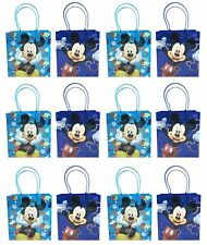 NEW 12x Disney Mickey Mouse Birthday Party Favor Goody Loot Gift Candy Bags