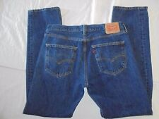MENS-LEVIS 501-STRAIGHT LEG-BUTTON FLY-JEANS-SIZE-35 X 34