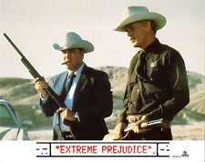 EXTREME PREJUDICE 1987 Nick Nolte, Powers Boothe UK 10x8 LOBBY SET