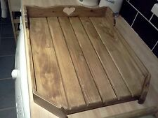 BELFAST   DRAINING BOARD  /SINK DRAINER.....SHABBY CHIC OAK STAINED..........