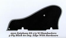2010 ES-175 5-Ply Black Pickguard W/Hardware 60 Deg Bevel for Epiphone Project