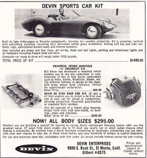 1960 DEVIN KIT SPORTS CAR  ~  ORIGINAL SMALLER PRINT AD