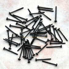 300 pcs ultra slim Mini Tiny Black Self Tapping Track Screws 1.2mm x 12mm