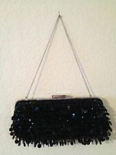 GORGEOUS WHITE HOUSE BLACK MARKET BLACK SEQUIN SMALL PURSE W/CACHE GIFT