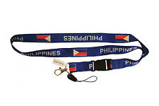 PHILIPPINES BLUE COUNTRY FLAG LANYARD KEYCHAIN PASSHOLDER ..  NEW