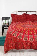 Indian Red Mandala Queen Duvet Cover Quilt Cover Bohemian Hippie Bedspread Quilt