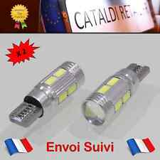 2 x Veilleuses LED T10 W5W 10 SMD Canbus Anti Erreur ODB Blanc Pur / FRANCE !