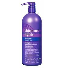 CLAIROL (Blue) Shimmer Lights Shampoo 32 oz. (Blonde & Silver)