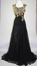 Women's Formal Embroidery Rhinestones beaded Long Evening Gown prom dress $199