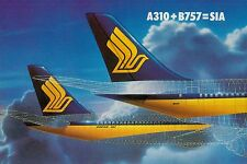 D2124mdt TransportA Singapore Airlines A310 B757 Aircraft Tail postcard