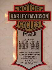 HARLEY DAVIDSON VINTAGE PATENT PATENTED SMALL DECAL (INSIDE) 2 X 1.25 NEW