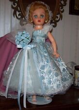 "Vintage 1950-60 Dee n Cee 18"" Brides Maid Doll Orig. Dress Revlon Family????"
