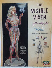 OUT OF PRINT SIGNED KEITH WEESNER POSTER PINUP MODEL KIT ATOMIC TOY ART PRINT