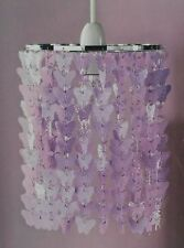 * NEW GIRLS BUTTERFLY CHANDELIER HANGING pendant shade bedroom nursery lilac.