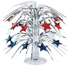 Mini Foil Cascade Table Centrepiece USA Red White Blue Star Party Decorations