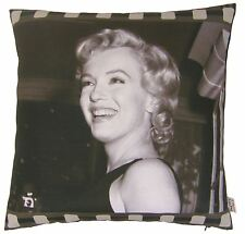 "Film movie star Marilyn Monroe photographique noir coussin couverture 17 "" - 43 cm"