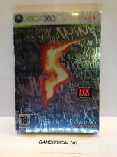 RESIDENT EVIL 5 LIMITED STEELBOOK EDITION (XBOX 360) NUOVO SIGILLATO