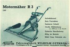 Motormäher R 3 Gutbrod Plochingen Reklame von 1941 Mäher Mähwerk Fahrzeugfabrik